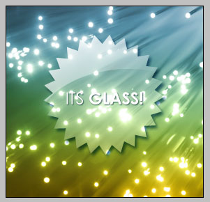 Glass Badge with Transparency effect | PhotoshopCandy