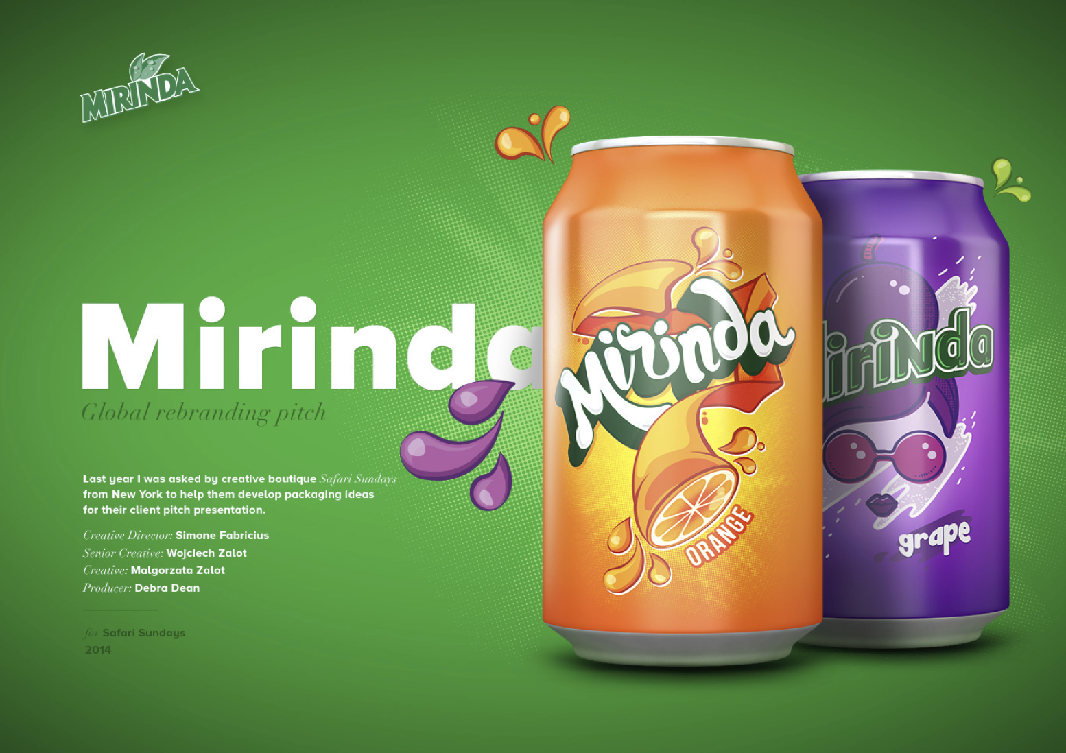 Mirinda Soft Drink Package Design